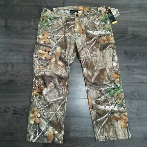 UNDER ARMOUR Storm Field Ops Hunting Cargo Pants Mens 40x30 RealTree Edge camo