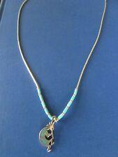 1997 G&S KOKOPELLI pendant necklace 925 & TURQUOISE