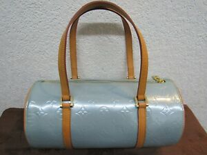 Louis Vuitton Bedford Turquoise Vernis Hand Bag  MH