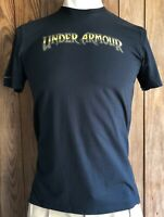 Under Armour Men's Medium Tshirt Hunting Black Short Sleeve HeatGear Charged