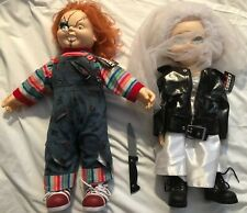 """Chucky & Bride Of Chucky 24"""" Tiffany Doll LIFE SIZE Child's Play with Knife Tags"""