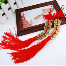 Feng Shui Chinese Coins Good Luck PROSPERITY PROTECTION Charm Tassel x1