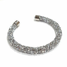 SILVER Fashion Stardust with Swarovski Element Crystal Cuff Open Bangle Bracelet