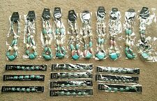wholesale lot of costume jewelry turquoise necklaces & bracelets 20 pieces *NEW*