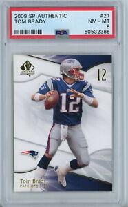 2009 SP Authentic 21 Tom Brady PSA NM-MT 8 New England Patriots QB