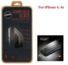 BNIB 0.3MM GENUINE TEMPERED GLASS Screen Protector Guard Case for iPhone 4S or 4