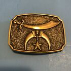 Knights Of The Templar Solid Brass Belt Buckle Made In USA