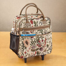 Classic Original Tapestry Luggage Tote Rolling Carry-on Plane Holiday Travel Bag