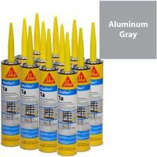 Sikaflex 1A Polyurethane Sealant, 10.1 fl oz, 12 Pack, ALUMINUM GRAY