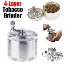 4-layer Smoke Grinder Aluminum Herb Grinders Hand Crank Herbal Tobacco Grinders