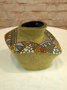 Moderne Vase Keramik eckige Form 16,5 cm hoch