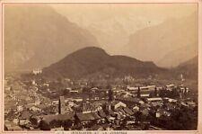 Panorama Interlaken Junkfrau ALBUMEN 1880 Photographer Garcin Suisse fotografie