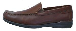 Fluchos Orion Mocassins Chaussures Pour Homme Marron Cuir 8682