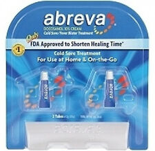 Abreva Cold Sore Treatment 10% Docosanol  2 x 2g tubes