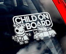 Niño a bordo-Peppa Pig Coche Etiqueta De La Ventana-niños, pimienta, Niños, Baby