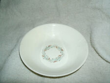 FORTUNE by HOMER LAUGHLIN CEREAL BOWL AQUA/BROWN FEATHERY