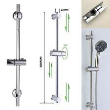 Chrome Bathroom Adjustable Shower Riser Rail Bracket Shower Head Holder Bar Kit