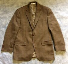 LAUREN RALPH LAUREN 38R Brown Herringbone 100% Wool Tweed Blazer Sport Coat