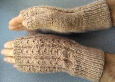 Wool Blend Cable Knit Men's Fingerless Gloves Mittens Wrist Warmers NEW