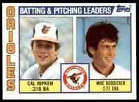 1984 TOPPS CAL RIPKEN MIKE BODDICKER BALTIMORE ORIOLES #426
