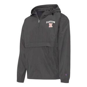 Champion NCAA Eastern Connecticut State Men's Black Half Zip Windbreaker Jacket