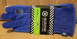 Isotoner Women's Smartouch Blue Spark Fleece Teddy Glove - MSRP $42
