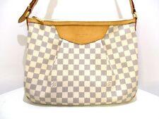 Authentic LOUIS VUITTON Damier Siracusa MM N41112 Azur Shoulder Bag GI5103