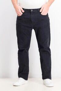 Levi's Men's 502 Taper Corduroy Pants Black Size 36X32