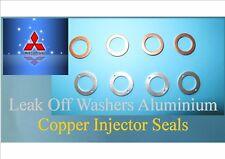 4 x Alloy 4 x Copper Leak Off Rail Injector Washers for PAJERO SHOGUN 2.5 TD