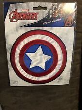 Captian America Logo Sew Ironed On Badge Applique Patch