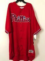 Rhys Hoskins Philadelphia Phillies Majestic Red Jersey Mens 2XL Tall - NEW