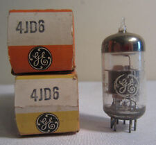 Lot Of 2 GE General Electric 4JD6 Electronic Vacuum Tube In Box NOS