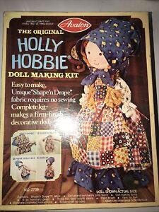 New Vintage 1976 No-Sew Original Holly Hobbie Prairie  Doll Making Kit by Avalon