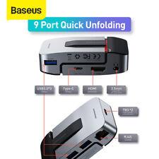 Baseus 9 in 1 USB C HUB Type C to USB 3.0 4K HDMI RJ45 Adapter for MacBook Pro