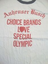 Vintage Anheuser Busch Choice Beer Special Olympics Ringer T Shirt L