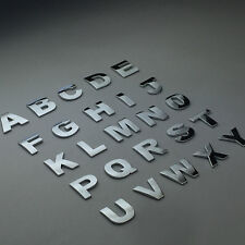 1 Piece Universal ABS Chrome Letter Alphabets 3D Car Badge Sticker Decal Emblem