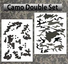 airbrush stencil Camo Digital Woodland Large Templates Stencils Spray Vision