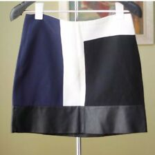 ❤️  ZARA Sz M Linen Leather Skirt