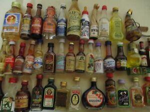 41  Mini Schnapsflaschen, Miniatur Spirituosen, Sammlungsauflösung
