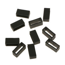 Strap Loops Replacement Keeper Black 20mm Pack of 10 Silicone Black Watch