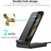 Phone Wireless Charger Induction Vertical Desktop Phone Holder Universal Fa Q3L3