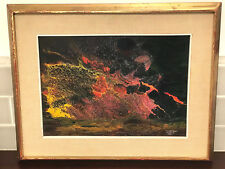 Mid Century Mexican Modern Volcanic Oil Painting / Signed