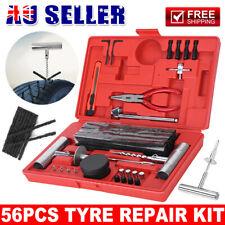 56Pcs Heavy Duty Puncture Tyre Repair Kit Plugs Tool Kit Car Truck Motorcycle AU