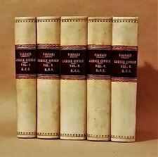 VIGNALI - COMMENTARIO DEL CODICE CIVILE ITALIANO - GIURIDICA - LEGATURE - 1881.