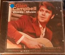 GLENN CAMPBELL CD Words and Music 20 SONG ENGLAND IMPORT BRAND NEW