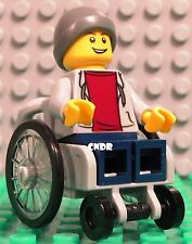 Lego City 60134 Fun in the Park male BOY minifigure IN WHEELCHAIR +cap accessory