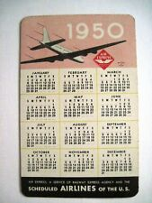 "1950-51 Small Advertising Calendar Card ""Air Express"" w/ Airplane & Service Man*"