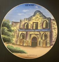 Vintage Hand Painted Alamo Collector Plate Hitomis Japan
