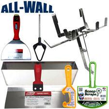 Drywall Mud Pan Holder Jumbo Set w/ Pan, Knives, Pan Mixer, Scoop, Bucket Opener