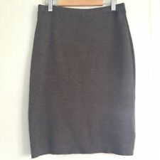 Brown Wool Fitted Pencil Skirt 8